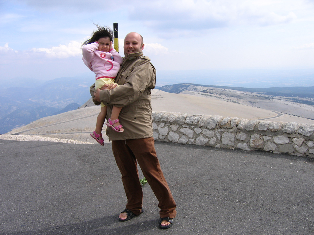 Picture of Stuart and Emma at the top of Mont Ventoux, France